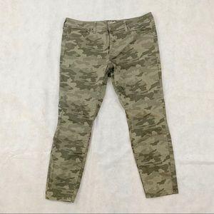 Universal Thread camo skinny jeans women sz 18/34R